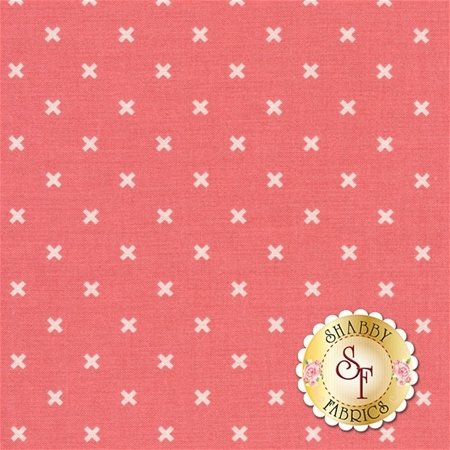 Bee Basics C6410-CORAL X Coral by Lori Holt from Riley Blake Designs