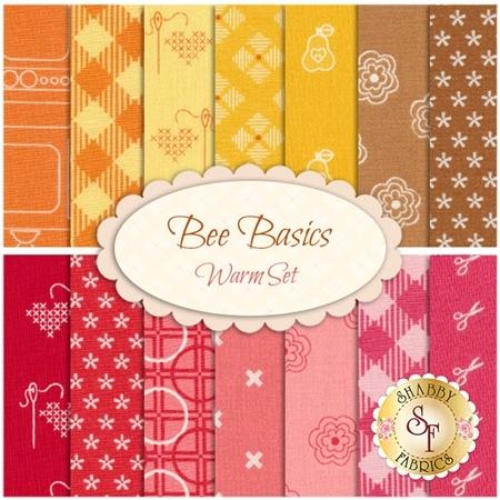 Bee Basics  14 FQ Set - Warm Set by Lori Holt from Riley Blake Designs