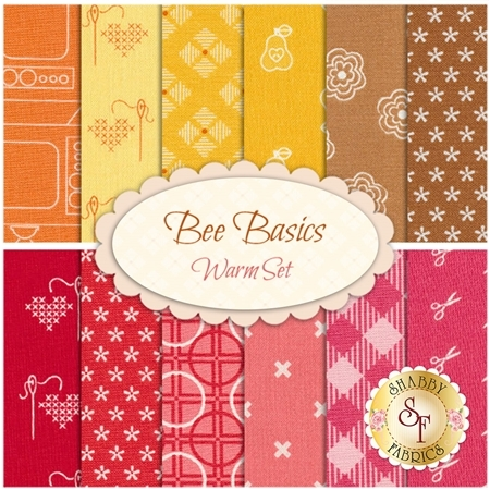 Bee Basics  12 FQ Set - Warm Set by Lori Holt from Riley Blake Designs