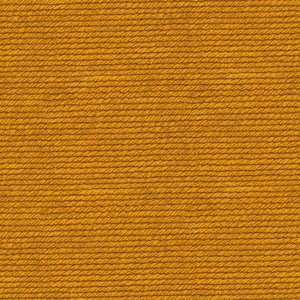 Yellow textured print | Shabby Fabrics