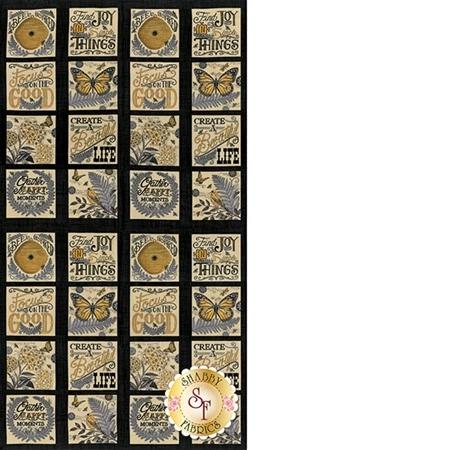 Bee Inspired 19790-13 Ebony Panel by Deb Strain for Moda Fabrics