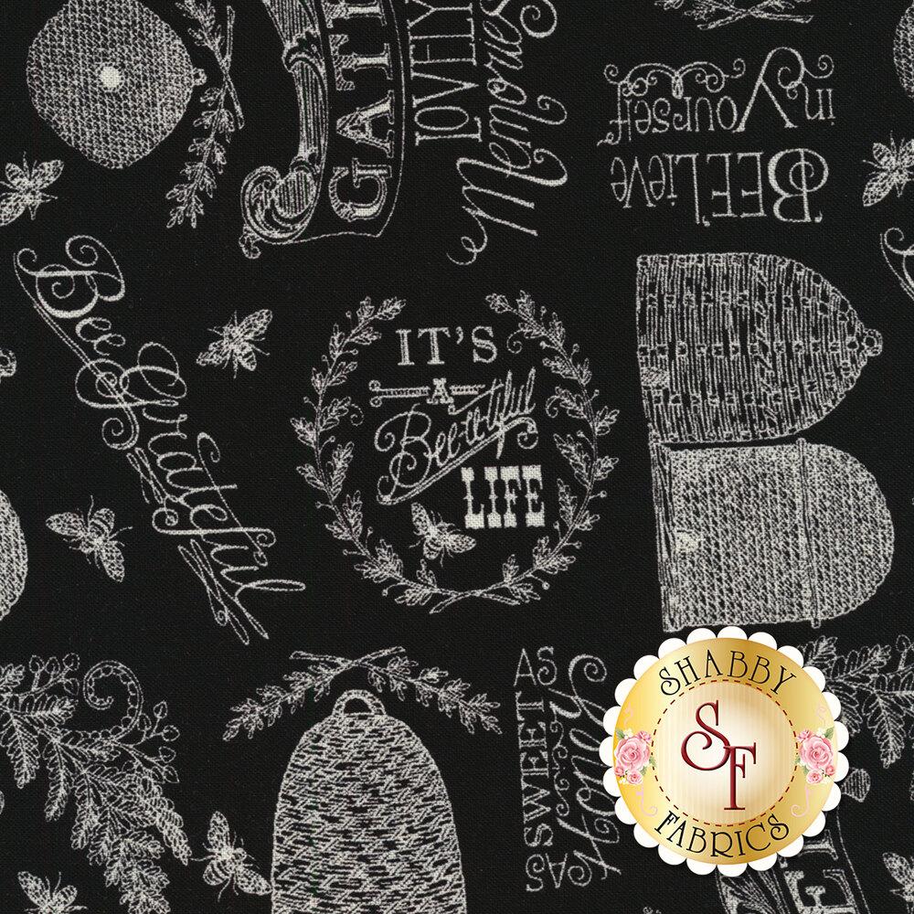 Bee Joyful 19873-18 Ebony by Deb Strain from Moda Fabrics
