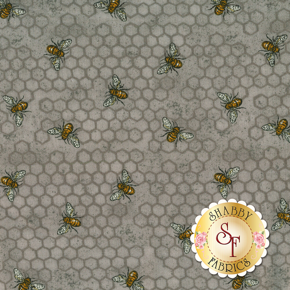 Bee Joyful 19874-14 Dove Grey by Deb Strain from Moda Fabrics