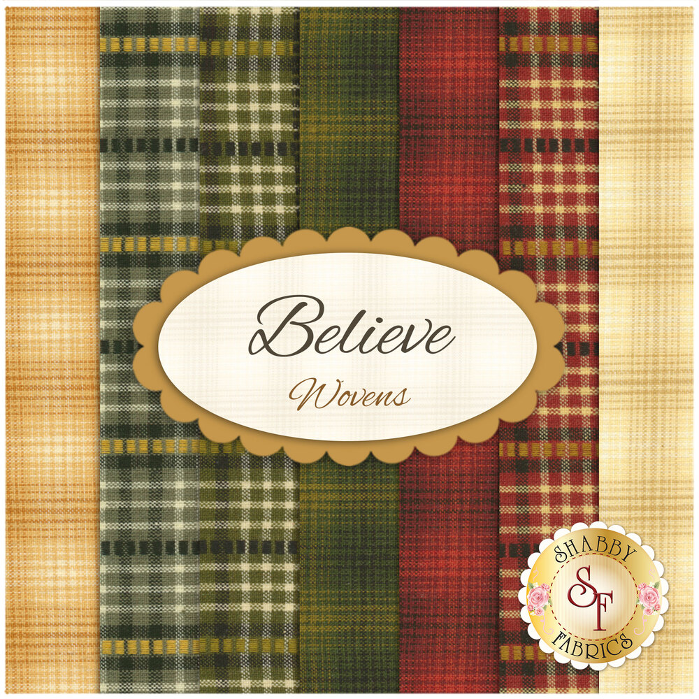 Believe  7 FQ Set - Woven Set by One Sister Designs