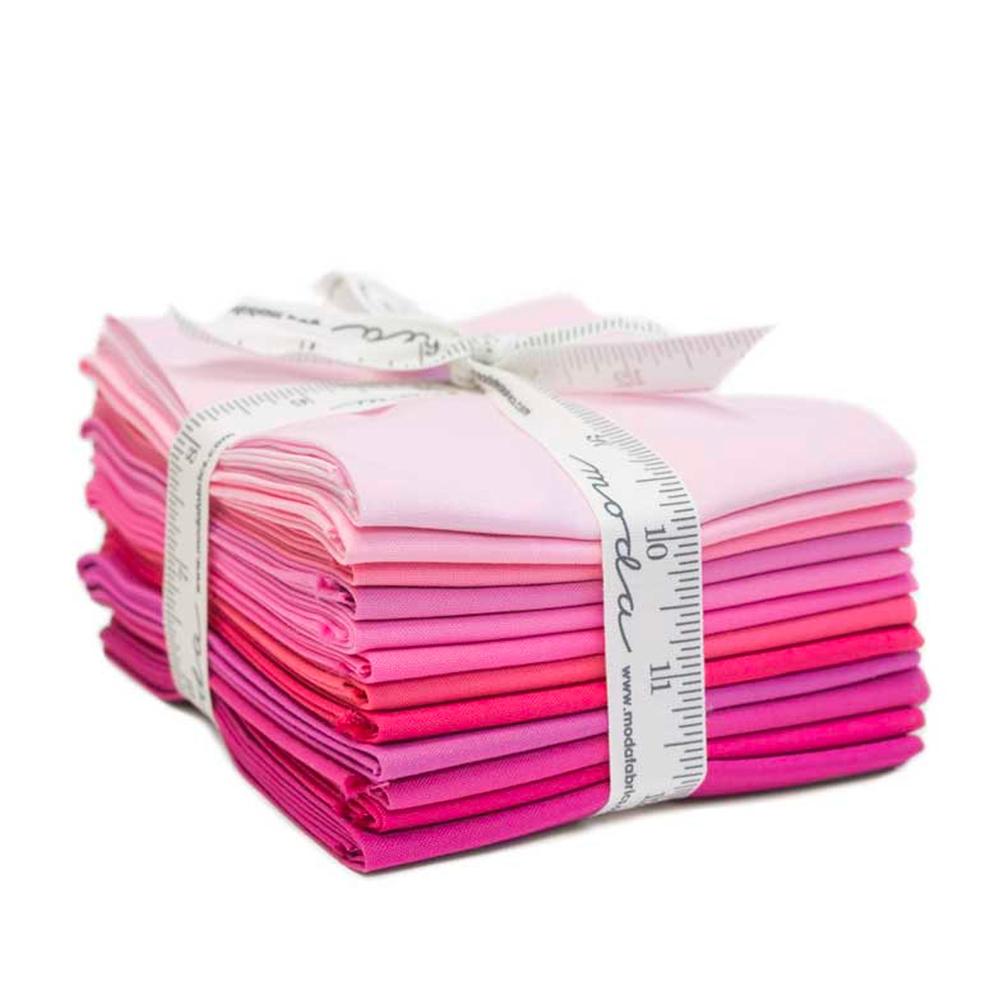 Bella Solids  12 FQ Set - Pink by Moda Fabrics | Shabby Fabrics
