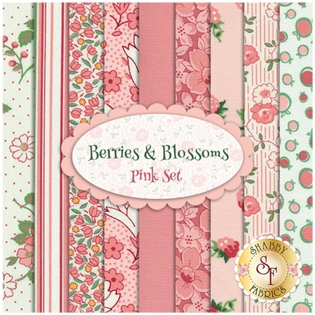 Berries & Blossoms  9 FQ Set - Pink Set by Kim's Cause for Maywood Studio
