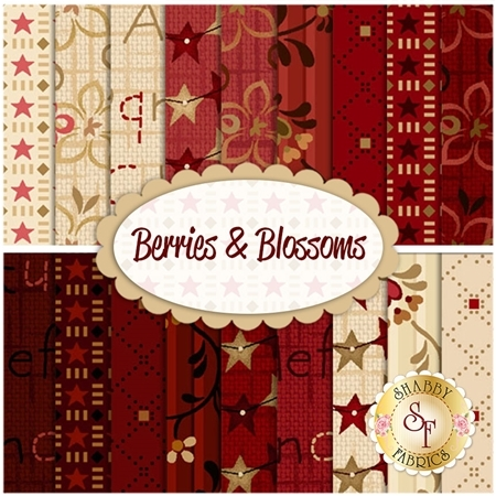 Berries & Blossoms  18 FQ Set by Henry Glass Fabrics