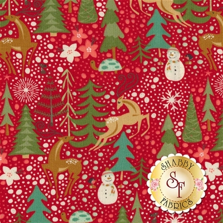Berry Merry 30470-13 Scarlet by BasicGrey for Moda Fabrics