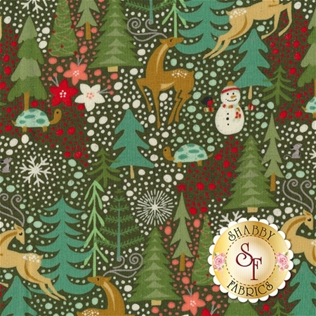 Berry Merry 30470-14 Forest by BasicGrey for Moda Fabrics
