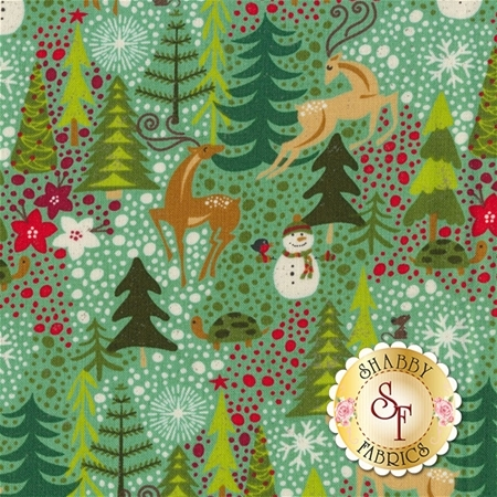 Berry Merry 30470-16 Mint by BasicGrey for Moda Fabrics
