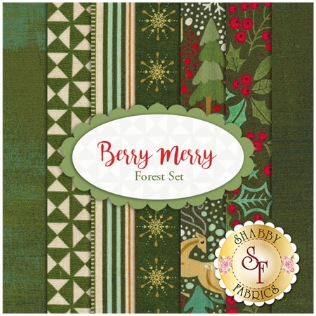 Berry Merry  7 FQ Set - Forest Set by BasicGrey for Moda Fabrics