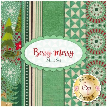 Berry Merry  5 FQ Set - Mint Set by BasicGrey for Moda Fabrics