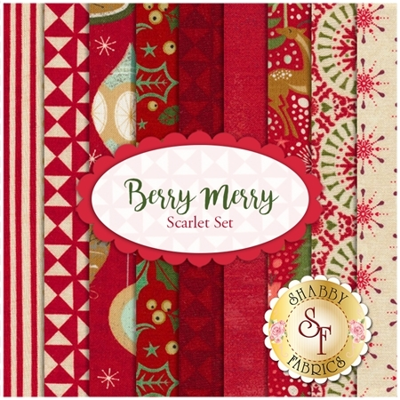 Berry Merry  9 FQ Set - Scarlet Set by BasicGrey for Moda Fabrics