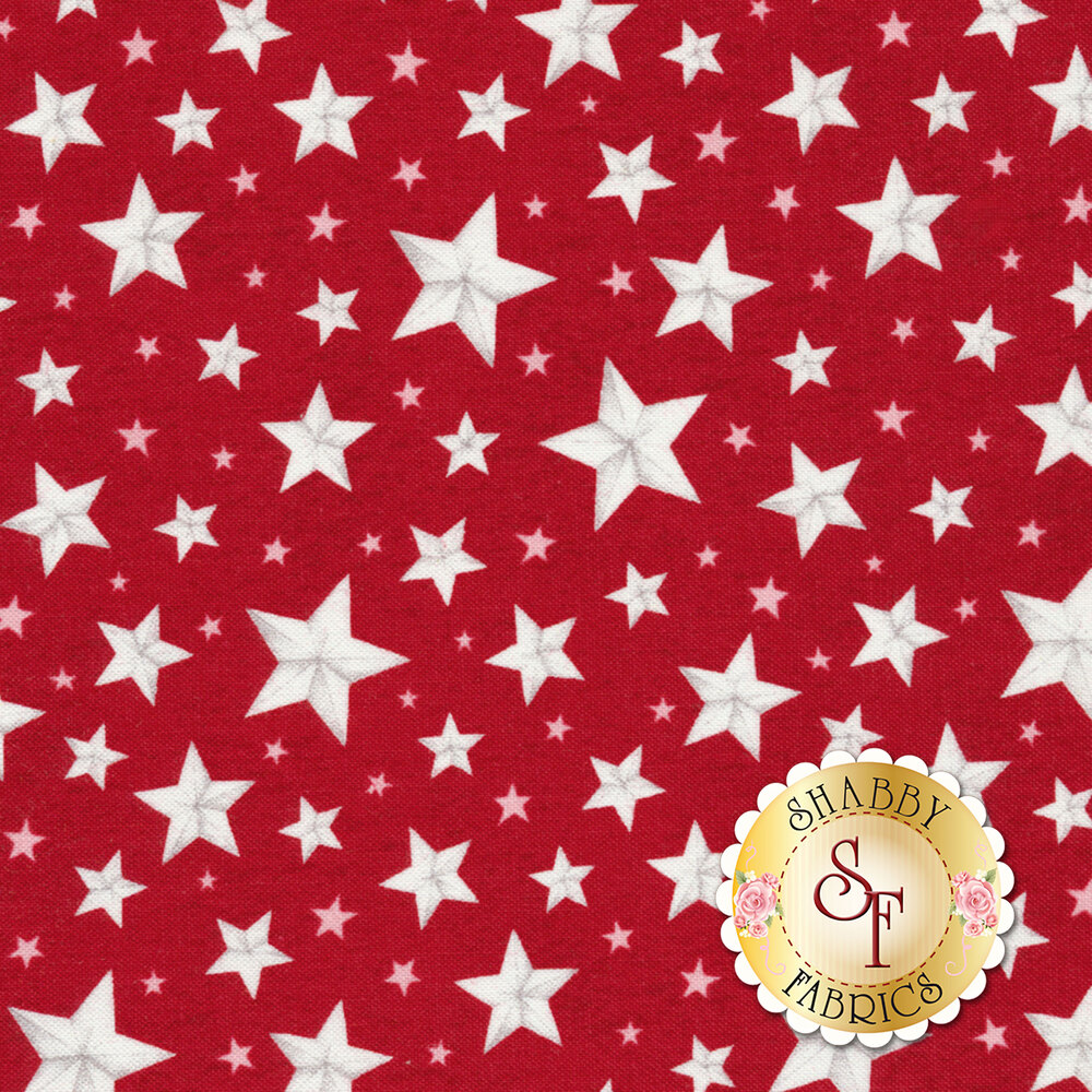 Berry Sweet 13007-331 All Over Stars Red from Wilmington Prints