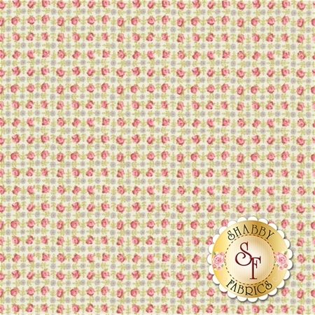 Bespoke Blooms 18622-13 Pebble Linen by Brenda Riddle for Moda Fabrics