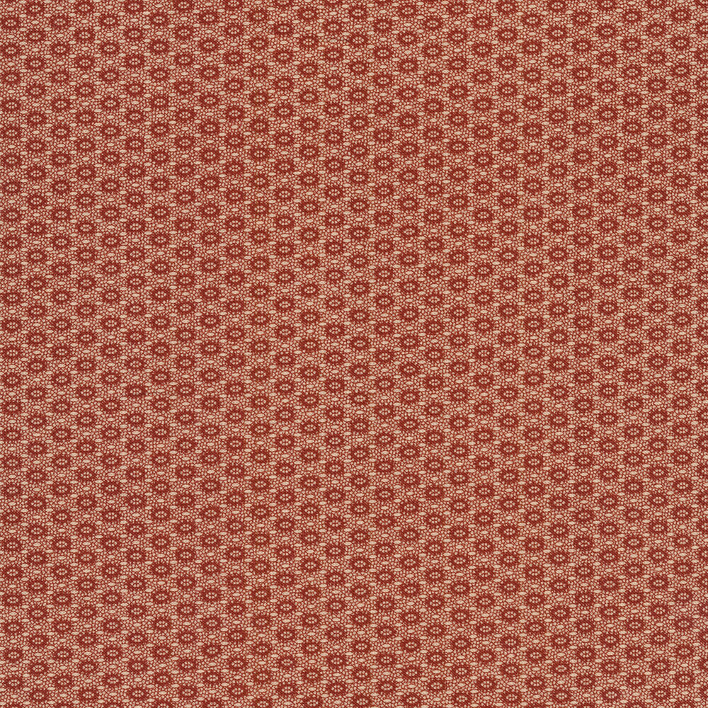 Unique fabric with red cracks all over a tan background   Shabby Fabrics