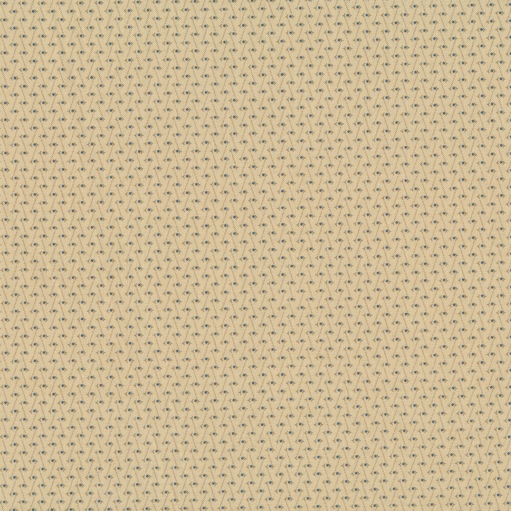 Geometric lines around circles connected by dotted lines on a tan background | Shabby Fabrics