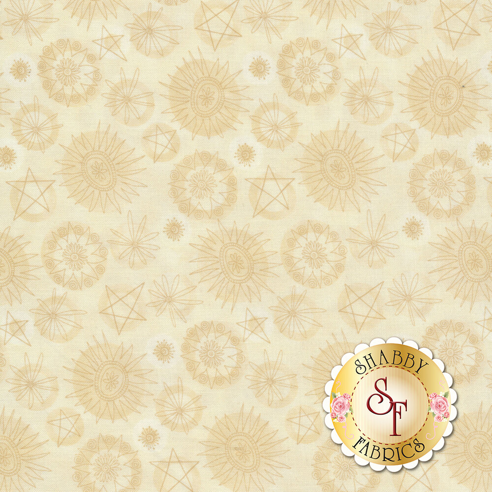 Best of Days 2453-33 is a stunning tan floral print by Henry Glass Fabrics
