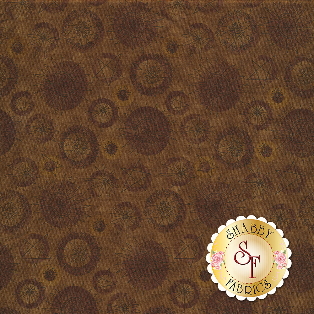 Best of Days 2453-38 is a stunning brown floral print by Henry Glass Fabrics