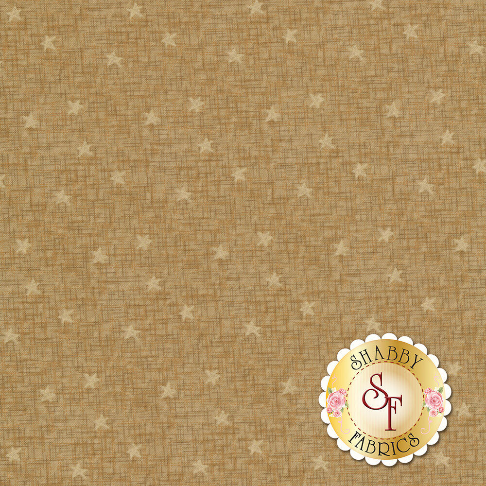 Best of Days 2455-34 is a tan textured fabric with stars by Henry Glass Fabrics