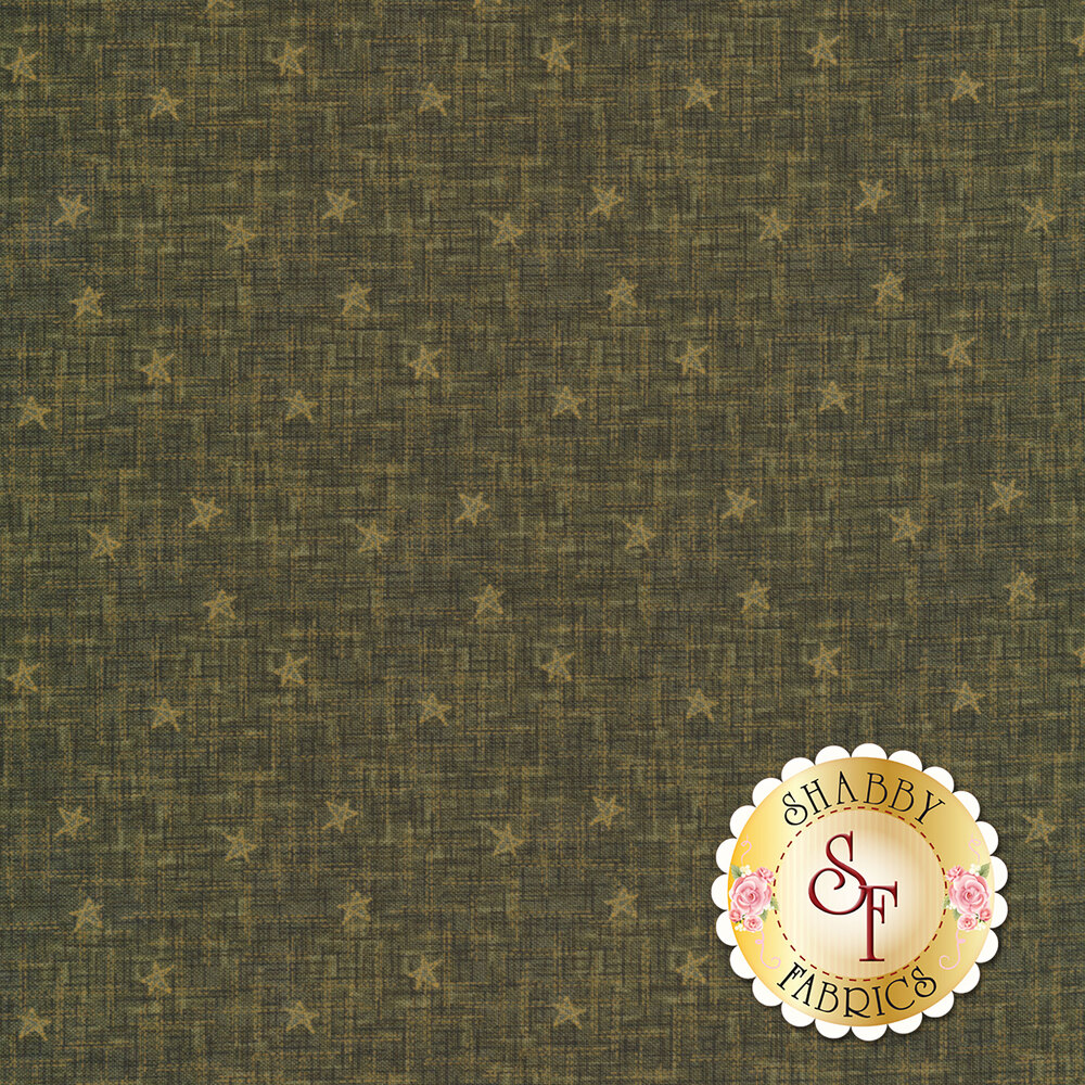Best of Days 2455-66 is a green textured fabric with stars by Henry Glass Fabrics