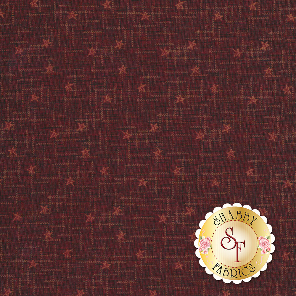 Best of Days 2455-88 is a red textured fabric with stars by Henry Glass Fabrics