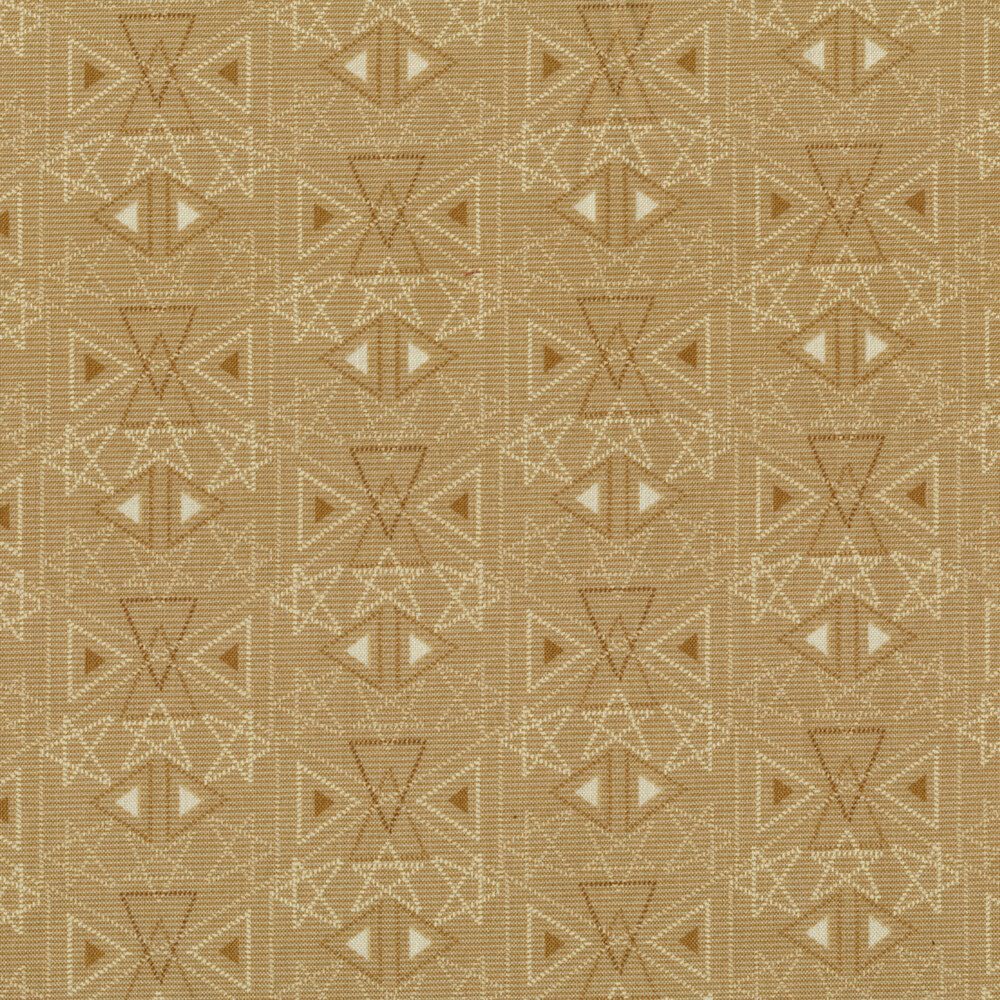 Best of Days 2456-34 is a tan geometric print by Henry Glass Fabrics