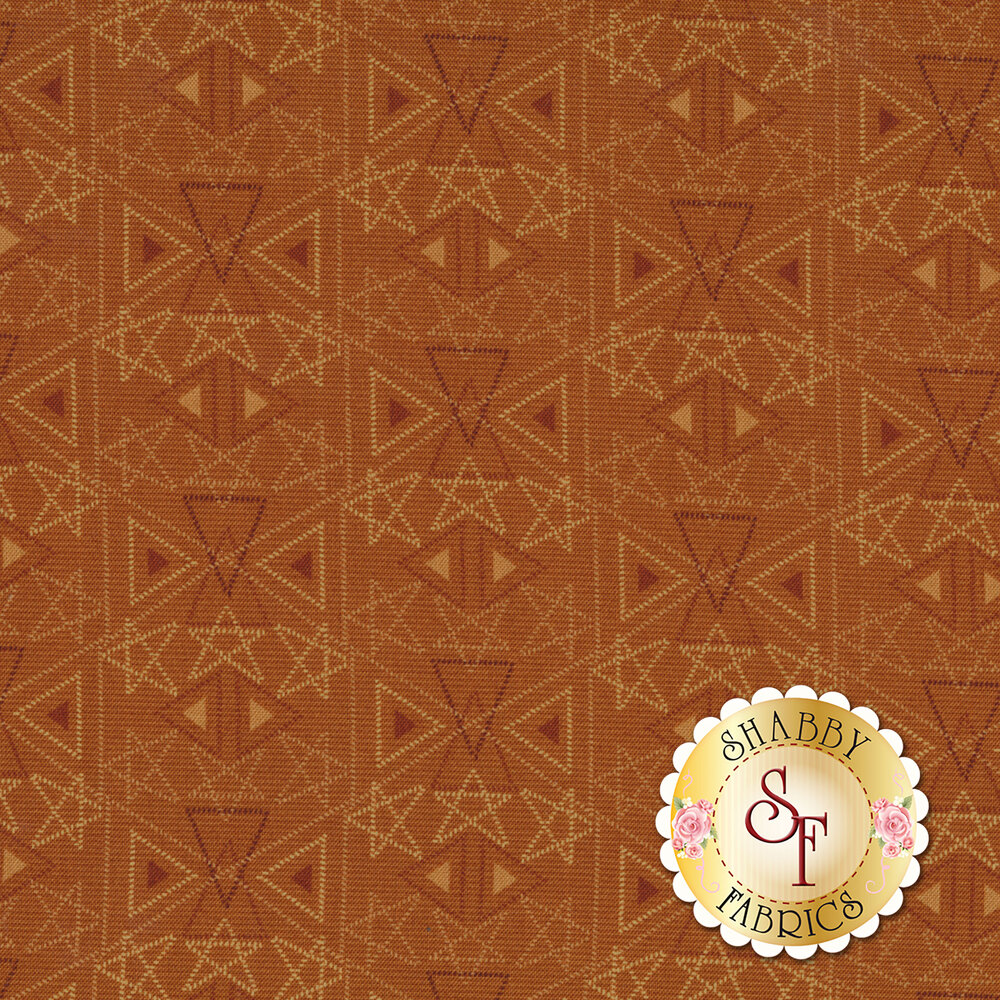 Best of Days 2456-35 is a rust colored geometric print by Henry Glass Fabrics