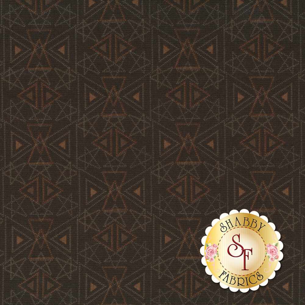 Best of Days 2456-38 is a brown geometric print by Henry Glass Fabrics