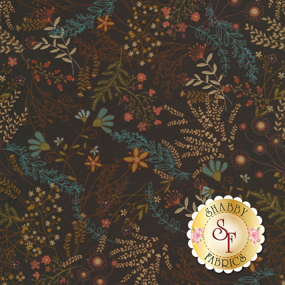 Best of Days 2457-38 is a brown floral fabric by Henry Glass Fabrics