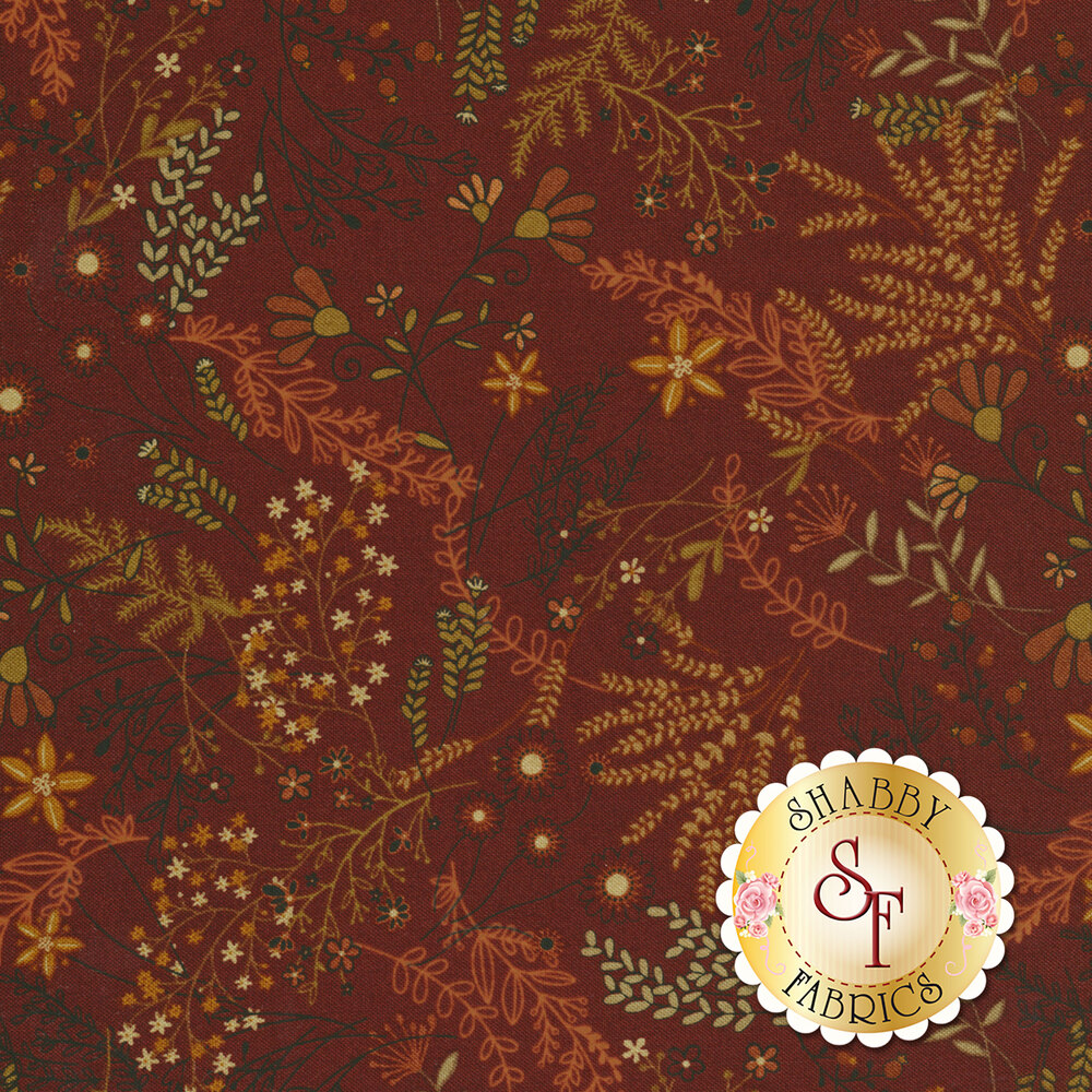 Best of Days 2457-88 is a red floral fabric by Henry Glass Fabrics
