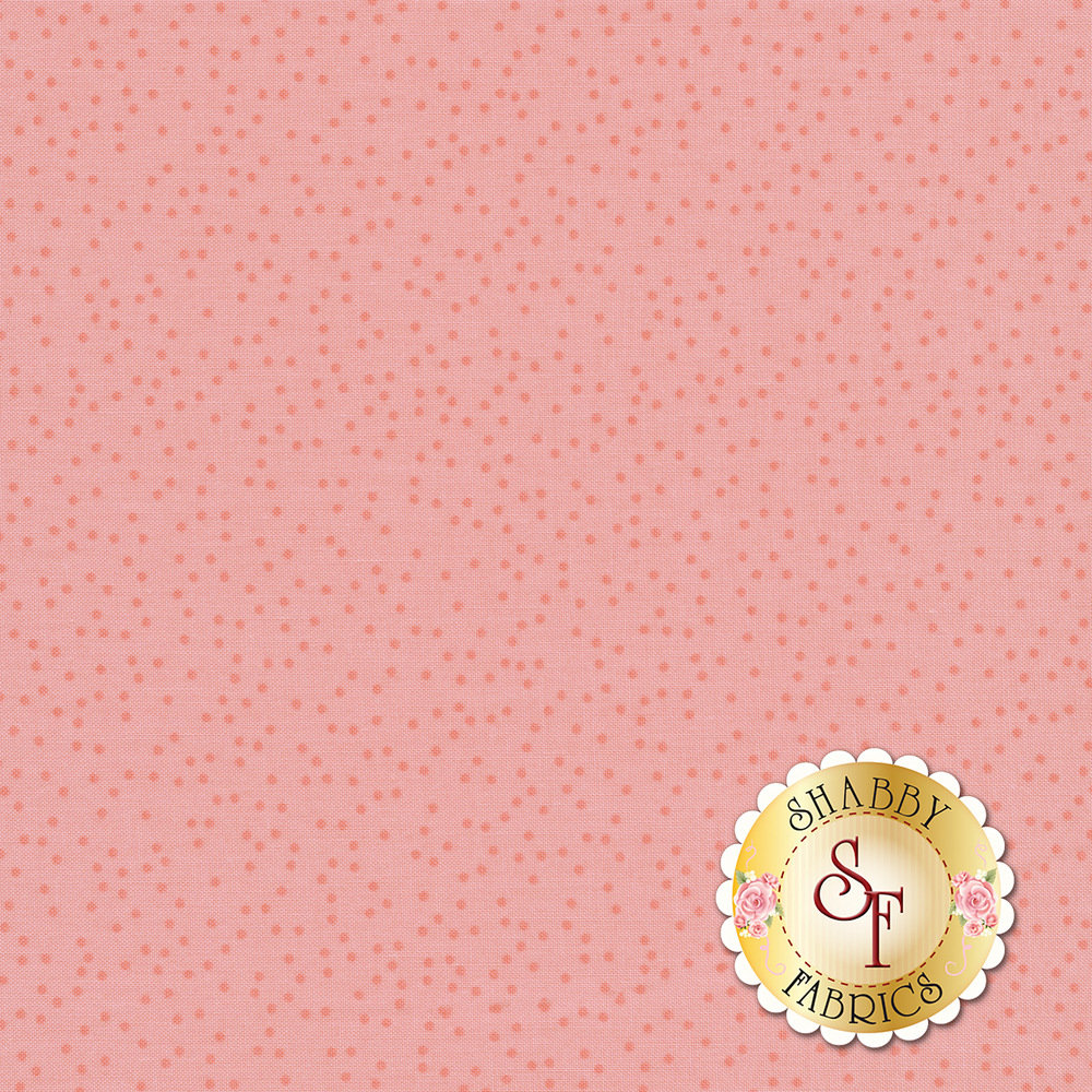 Pink tonal polka dots all over a pink background | Shabby Fabrics