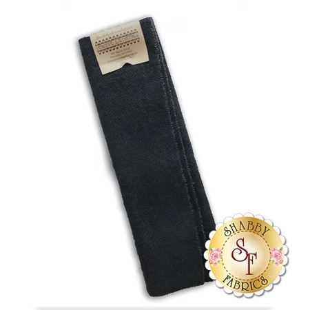 Hand Dyed Wool PRI 5001 Black Herringbone by Primitive Gatherings for Moda Fabrics
