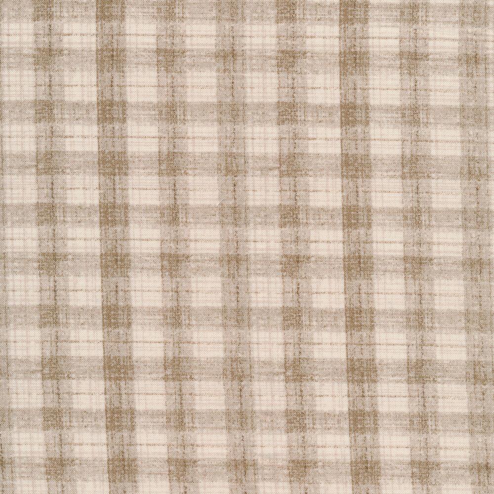 Cream and tan check pattern