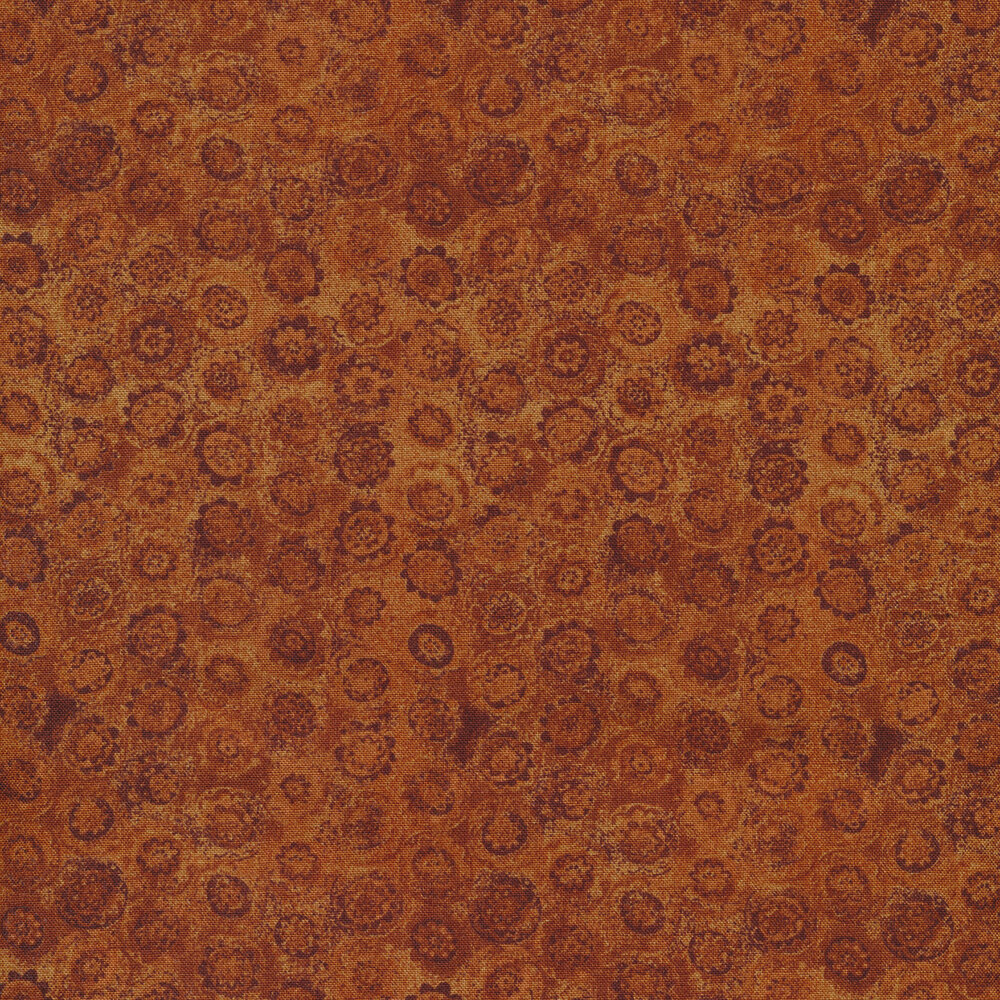 Tonal fabric with small circular flowers all over