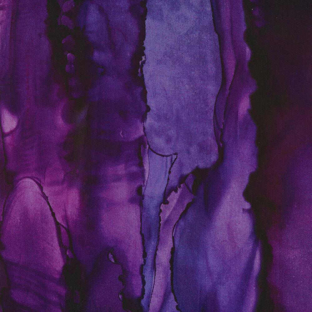 Purple watercolor print | Shabby Fabrics