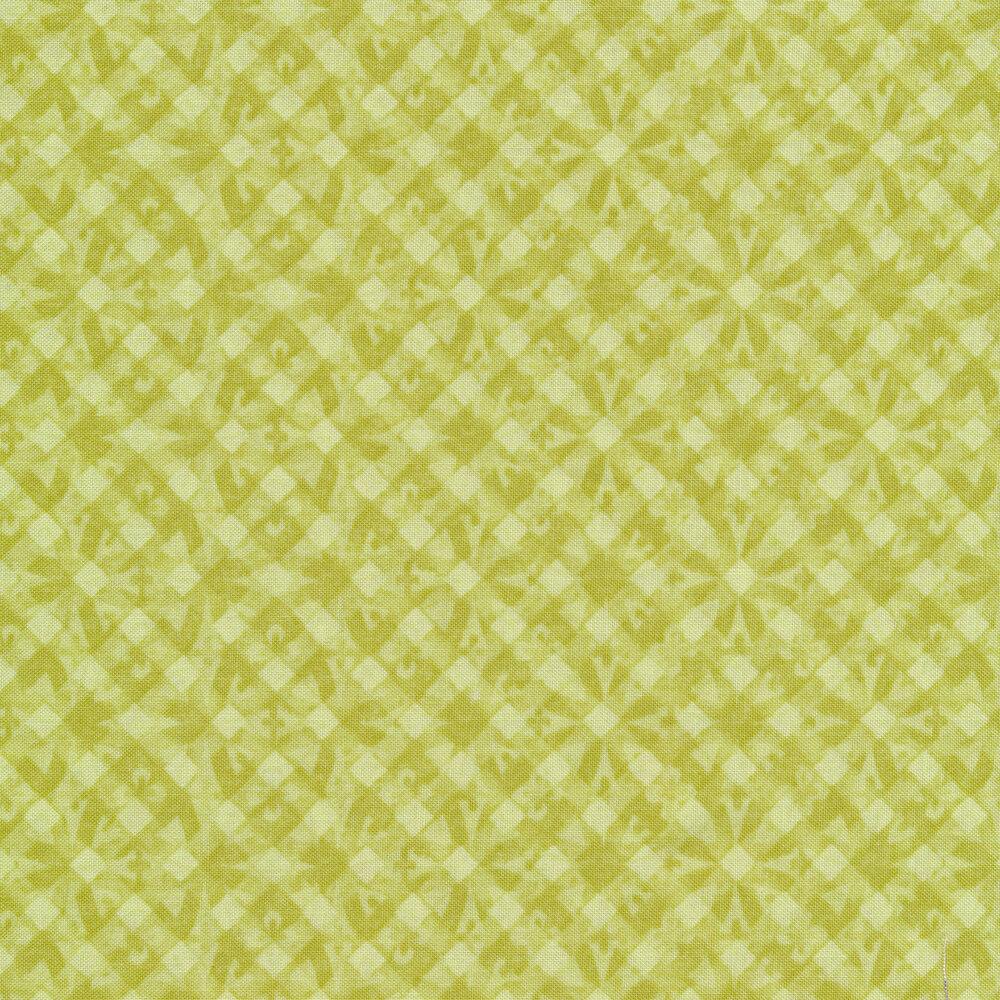 Tonal green geometric diamond print
