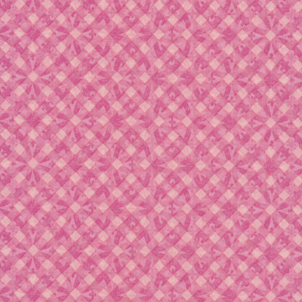 Tonal pink geometric diamond print