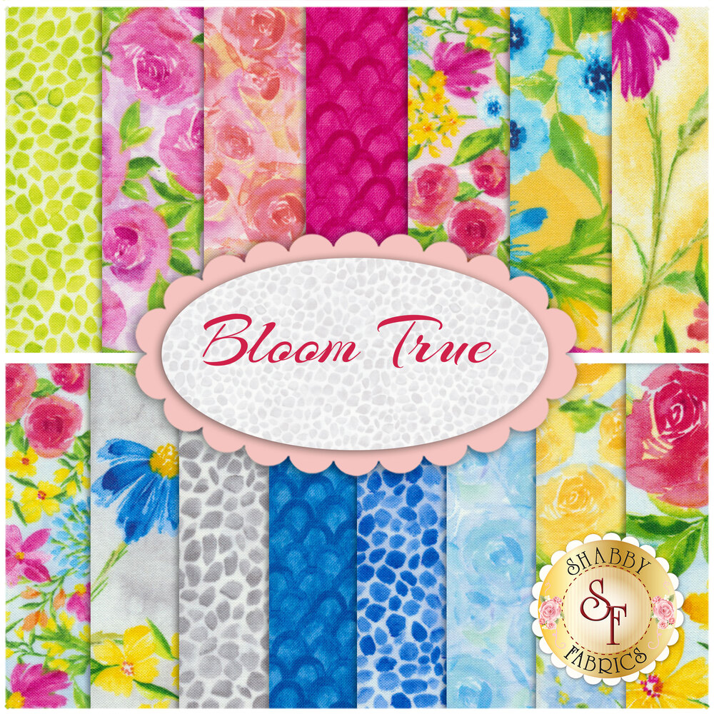 Bloom True  15 FQ from Wilmington Prints by Charlotte Grace