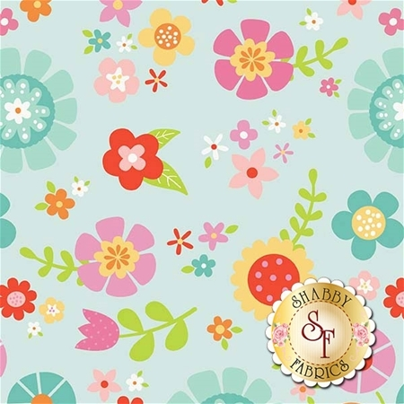 Bloom Where You're Planted C6850-AQUA by Riley Blake Designs
