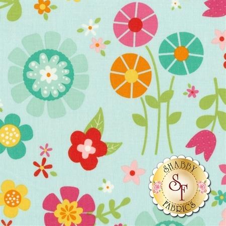 Bloom Where You're Planted C6850-AQUA by Riley Blake Designs