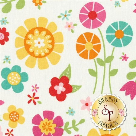 Bloom Where You're Planted C6850-WHITE by Riley Blake Designs