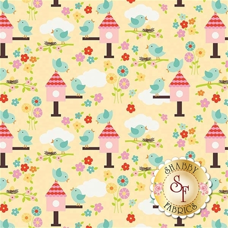 Bloom Where You're Planted C6852-YELLOW by Riley Blake Designs
