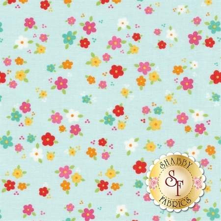 Bloom Where You're Planted C6854-AQUA by Lori Whitlock for Riley Blake Designs