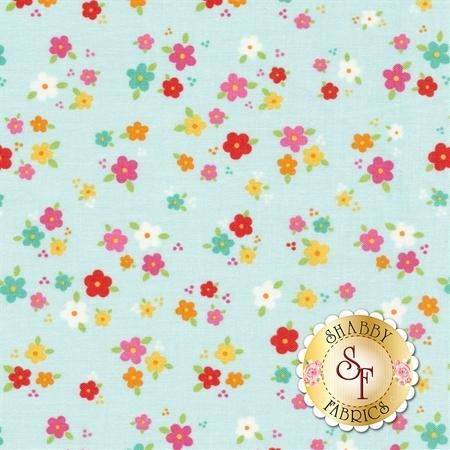 Bloom Where You're Planted C6854-AQUA by Riley Blake Designs