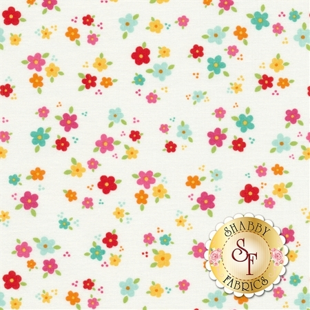 Bloom Where You're Planted C6854-WHITE by Riley Blake Designs