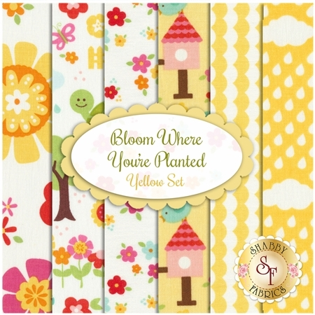 Bloom Where You're Planted  6 FQ Set - Yellow Set by Riley Blake Designs
