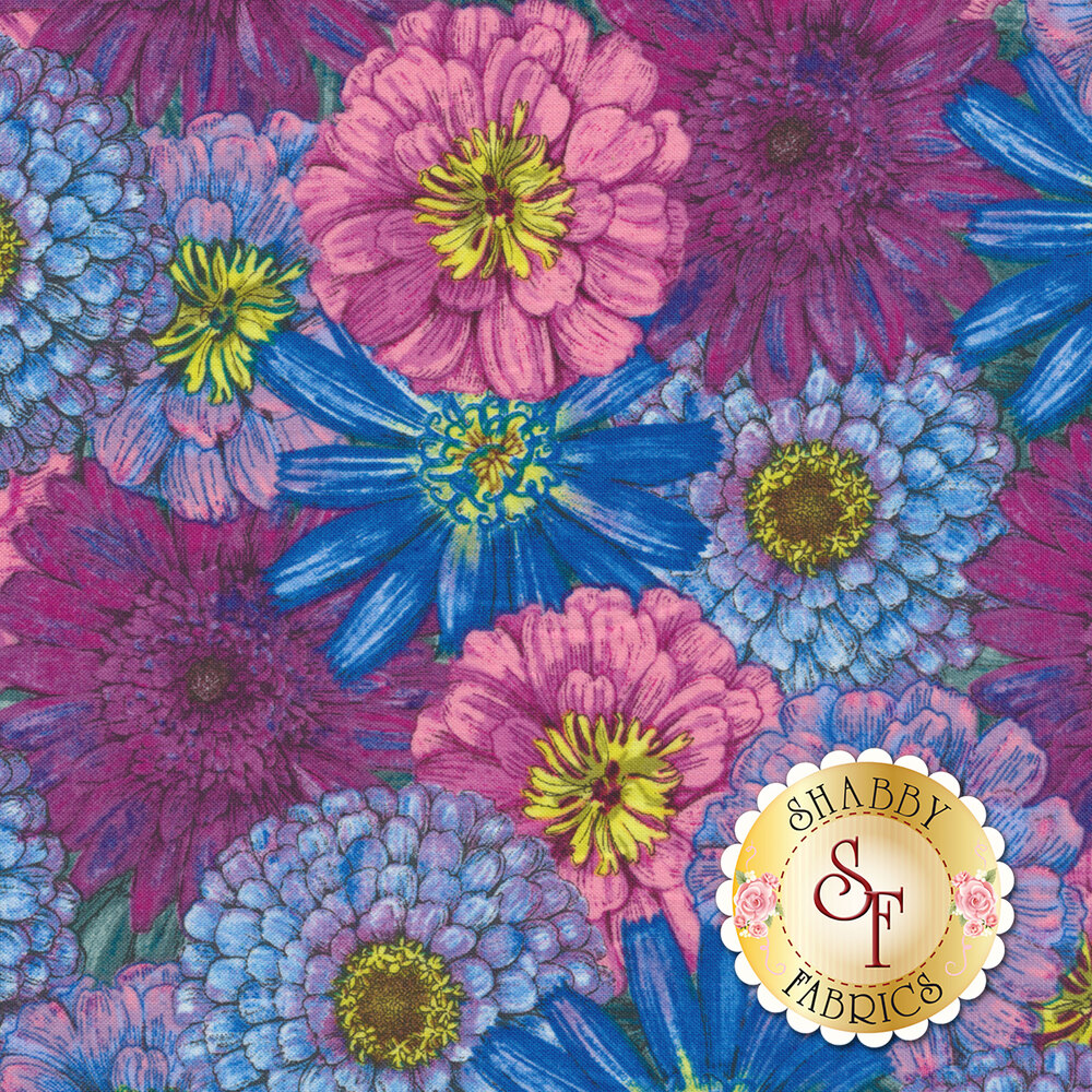 Blossom & Bloom 74202-645 by Wilmington Prints available at Shabby Fabrics