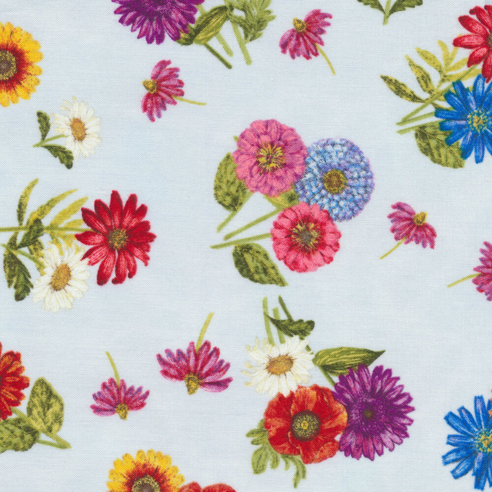 Blossom & Bloom 74203-437 by Wilmington Prints available at Shabby Fabrics