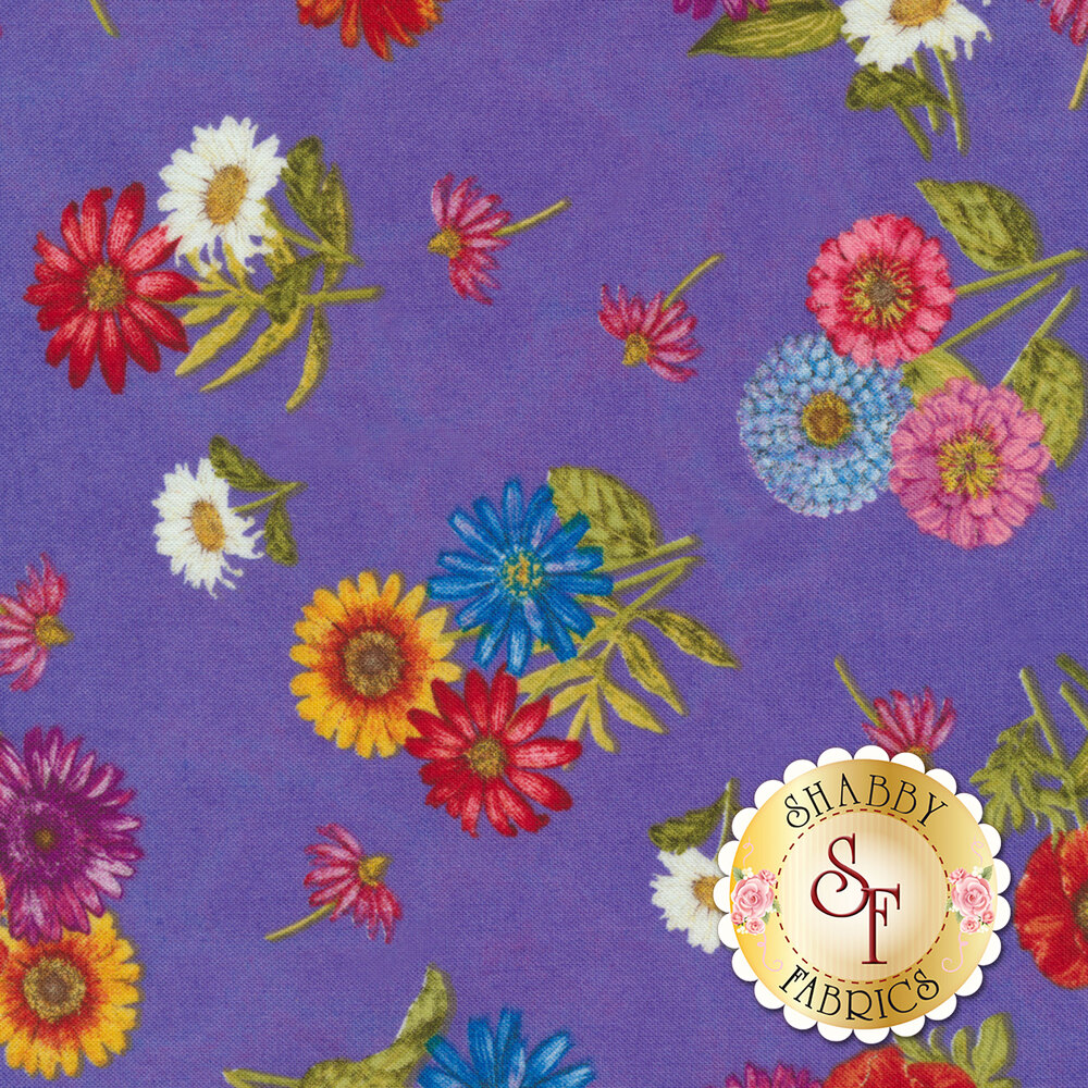 Blossom & Bloom 74203-637 by Wilmington Prints available at Shabby Fabrics